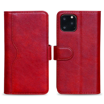 V-Wallet Leather Case For Samsung Galaxy Note 10 Plus - Red