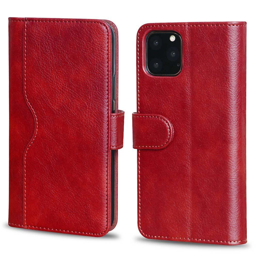 V-Wallet Leather Case For iPhone 11 - Red