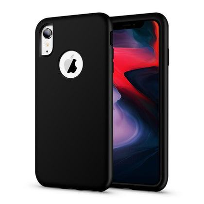 Hybrid Combo Layer Protective Case for iPhone X, Xs - Black
