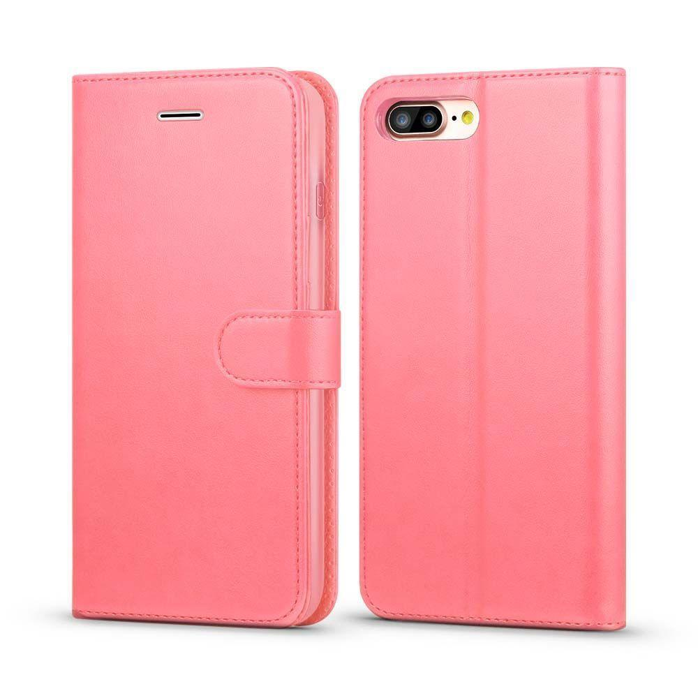 Classic Wallet Case for iPhone 7 Plus - Pink