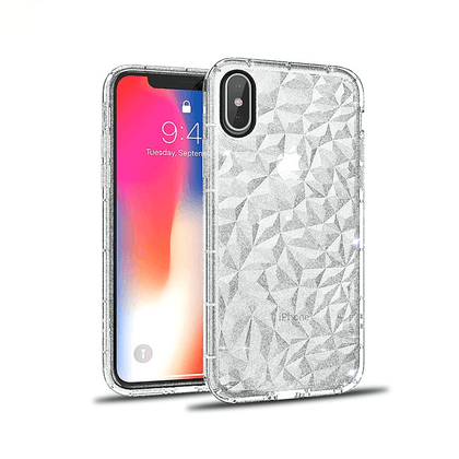 3D Crystal Case for iPhone Xs Max - Glitter Clear
