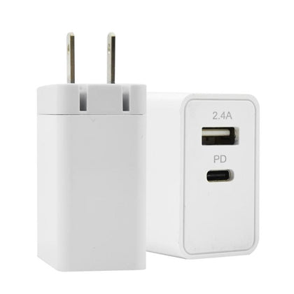 Fast Wall Charger 2 Output ( USB 2.4A and PD 3.6A ) with USB Cable
