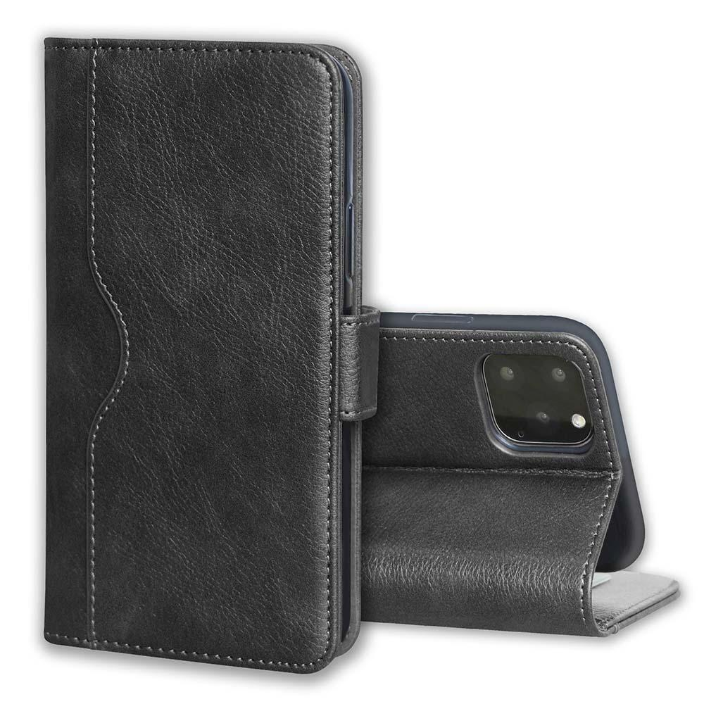 V-Wallet Leather Case For iPhone  7/8 Plus - Black