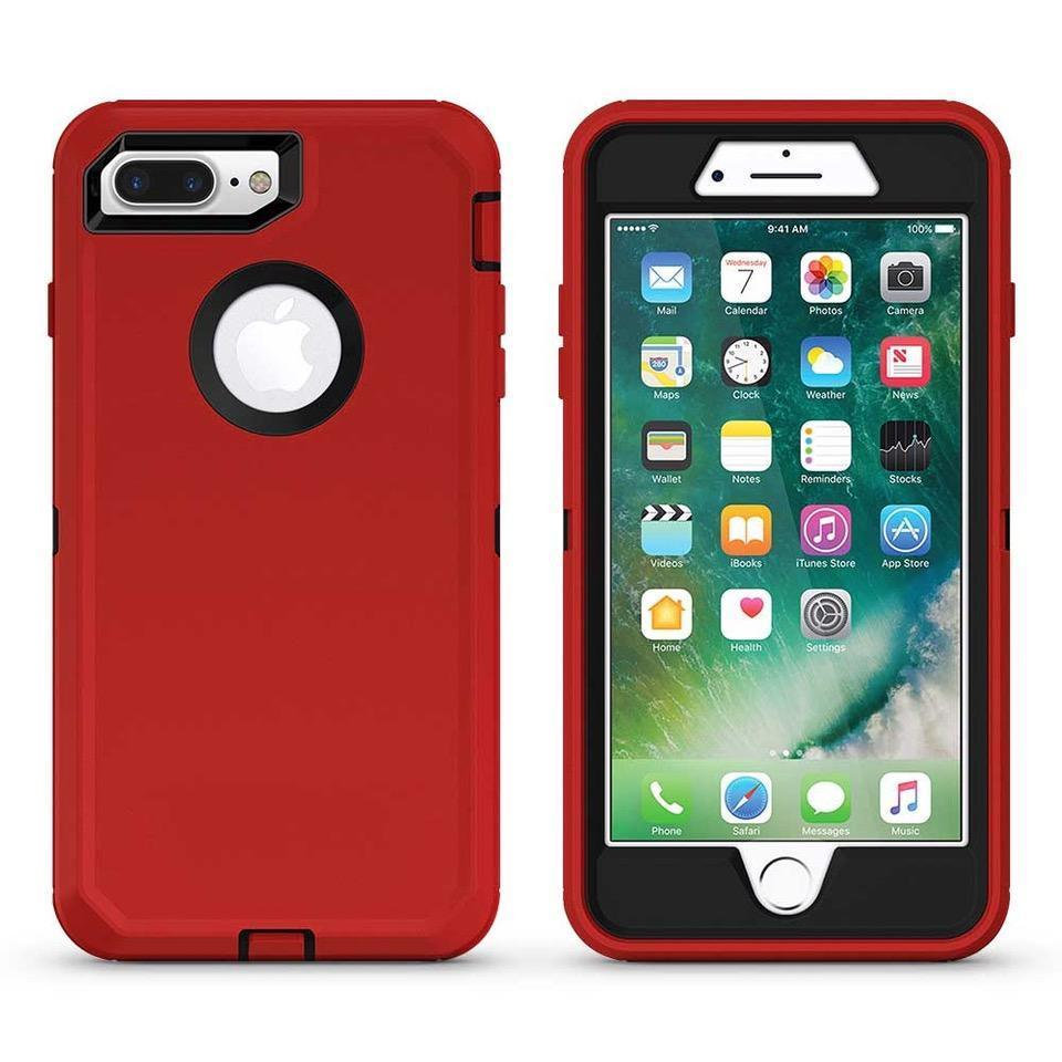 DualPro Protector Case for iPhone 6 Plus - Red & Black