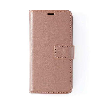 Classic Magnet Wallet Case For Samsung Galaxy Note 10 Plus - Rose Gold