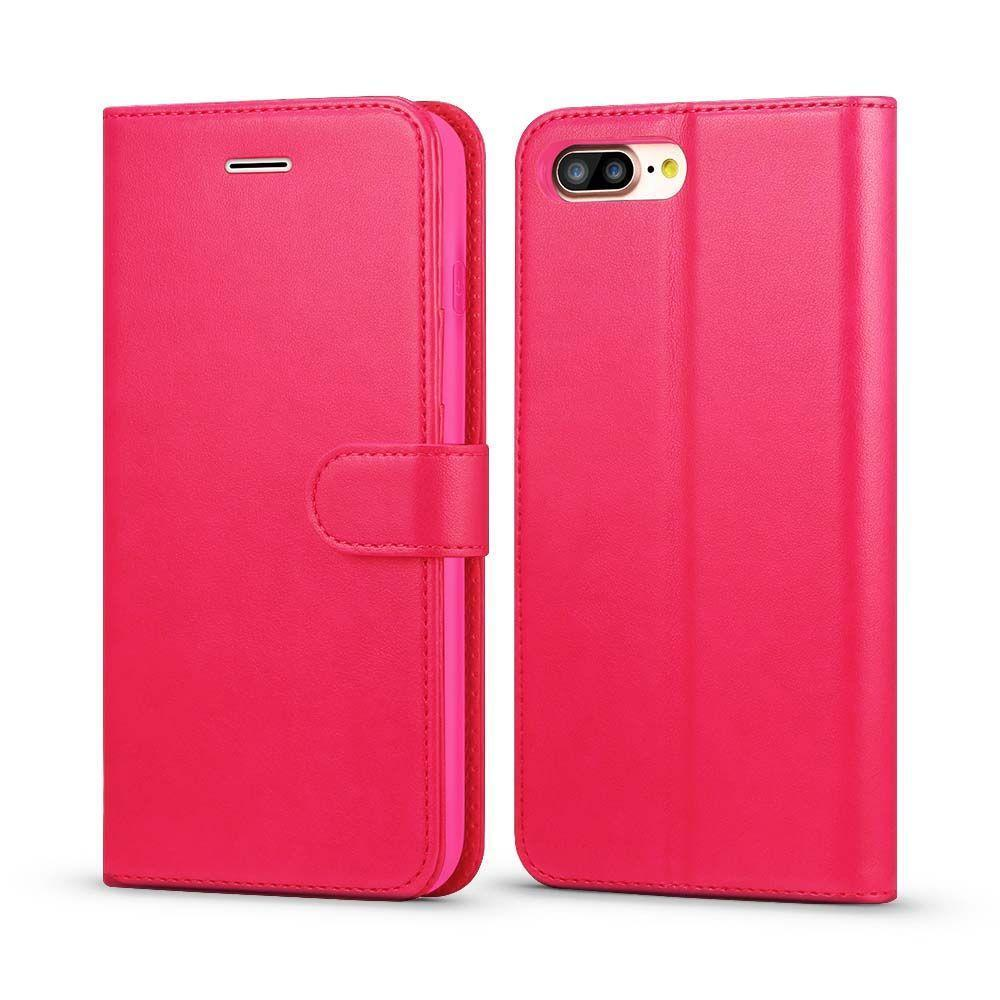 Classic Wallet Case for iPhone 7 Plus - Hot Pink