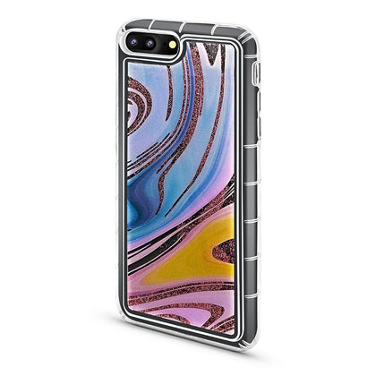 Abstract Liquid Case for iPhone 7/8 - Rainbow - Rose