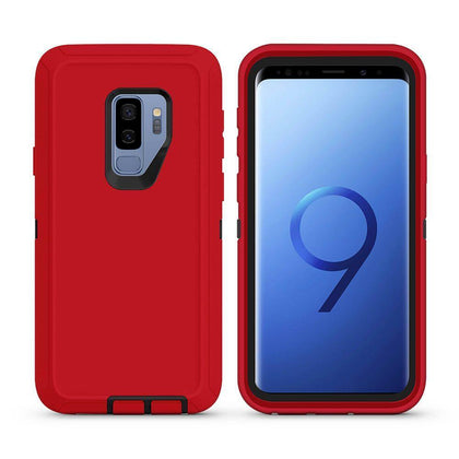 DualPro Protector Case For Samsung Galaxy S9 - Red & Black