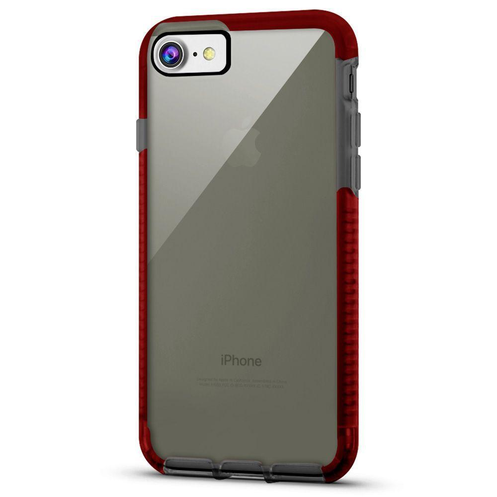 Elastic Clear Case for iPhone 6/7 /8 - Black & Red Edge