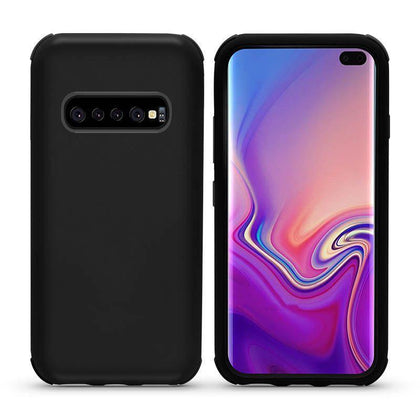 Bumper Hybrid Combo Layer Protective Case for Samsung Galaxy S10 - Black