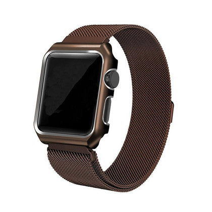 Stainless Steel iWatch Band 42/44mm - Coffee