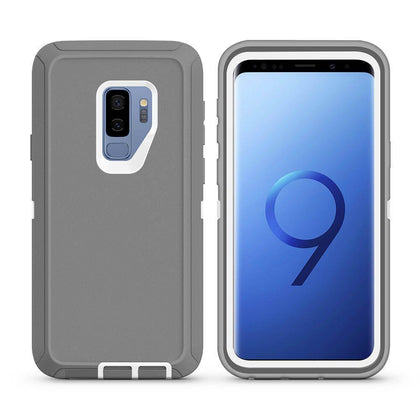 DualPro Protector Case For Samsung Galaxy S9 Plus - Grey & White