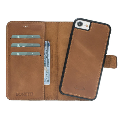 Leather Wallet Magnet Magic Case - Crazy, Cases, Mobilenzo, MobilEnzo