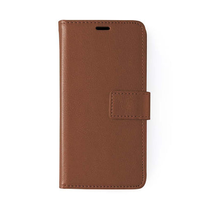 Classic Magnet Wallet Case For Samsung Galaxy Note 10 Plus - Brown