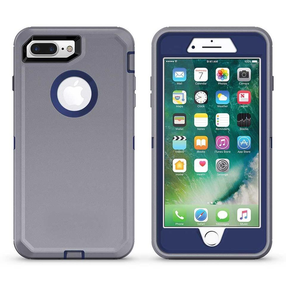 DualPro Protector Case for iPhone 6 - Grey & Dark Blue