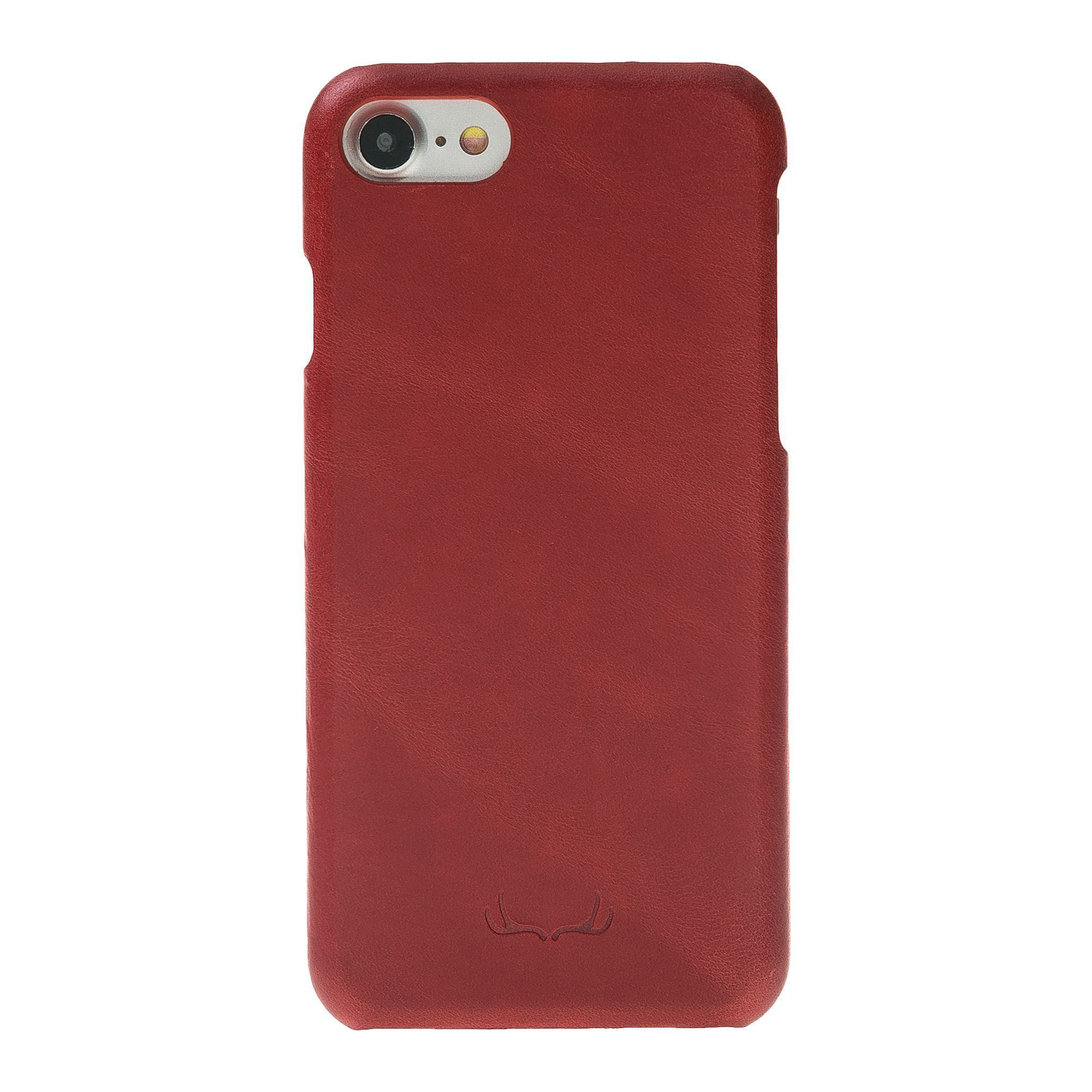 BNT Ultimate Jacket Leather Cases - Crazy - iPhone 7/8 - Red