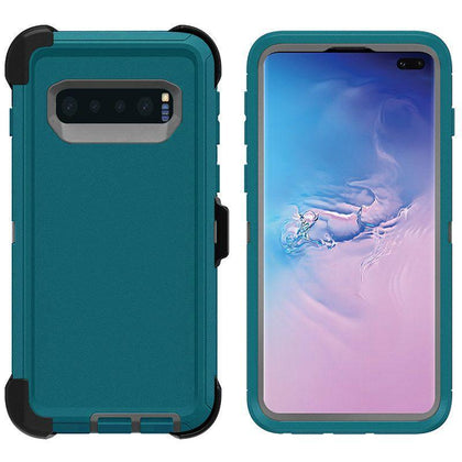 DualPro Protector Case for Samsung S10 - Teal & Grey