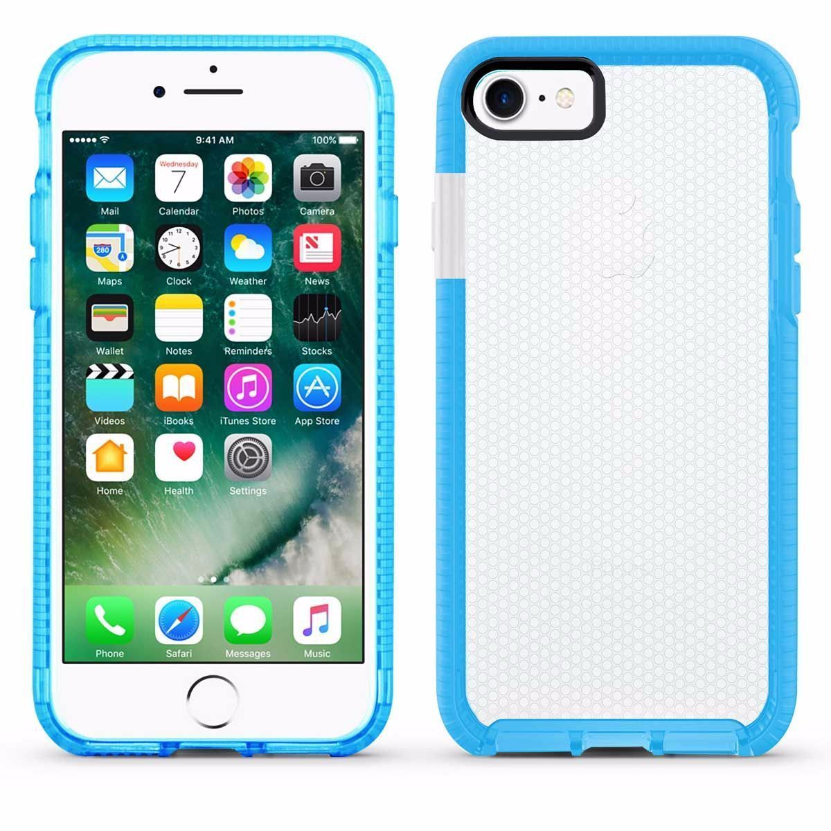 Elastic Dot Case for iPhone 7 /8 - Blue Edge