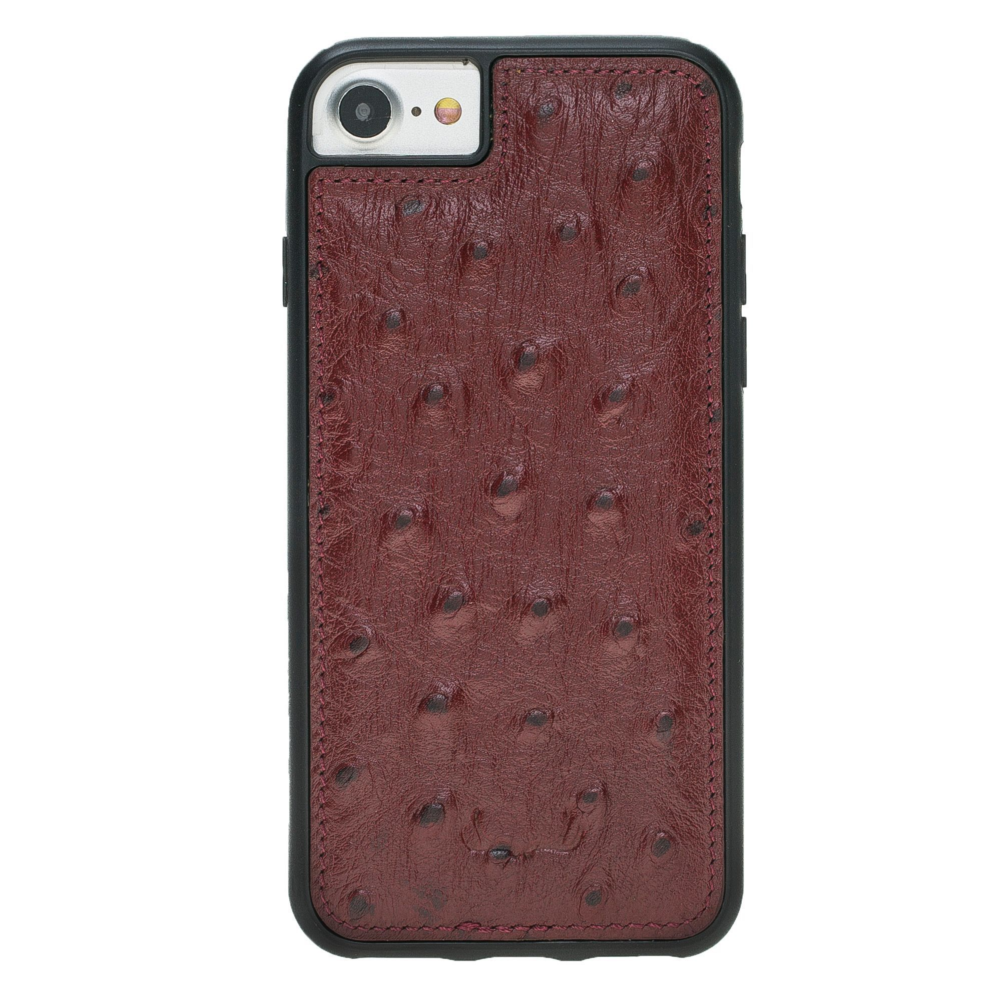 BNT Flex Cover Leather Cases - Ostrich - iPhone 7/8 - Red