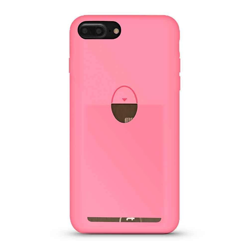 Soft  Card Case for iPhone 7 Plus - Pink