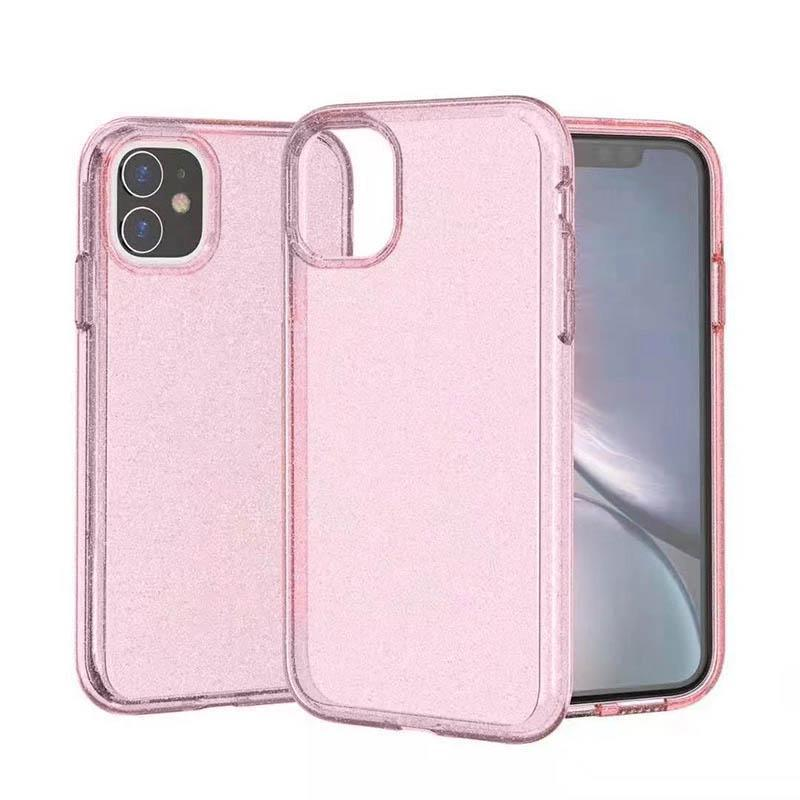 Transparent Sparkle Case for iPhone 11  Pro Max - Pink