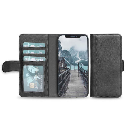 V-Wallet Leather Case For iPhone  X, Xs - Grey