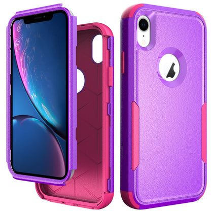 Commander Combo Case for iPhone XR - Purple and Pink