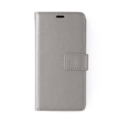Classic Magnet Wallet Case For Samsung Galaxy Note 10 Plus - Grey