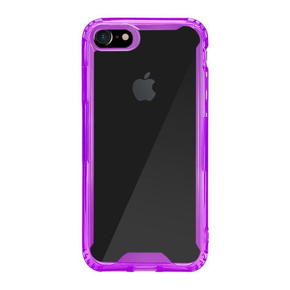 Acrylic Transparent Case for iPhone X - Purple