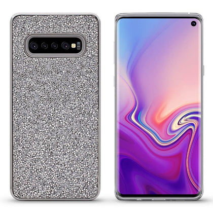 Color Diamond Case for Samsung Galaxy S10 - Silver