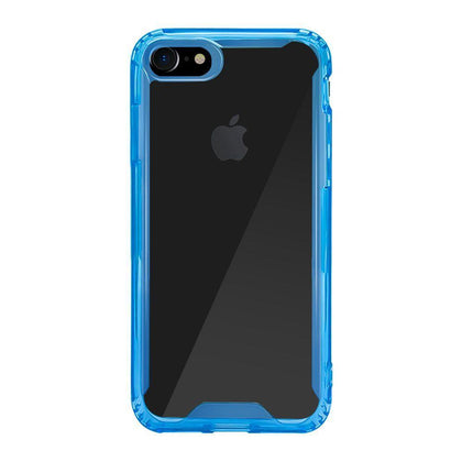 Acrylic Transparent Case for iPhone X - Blue