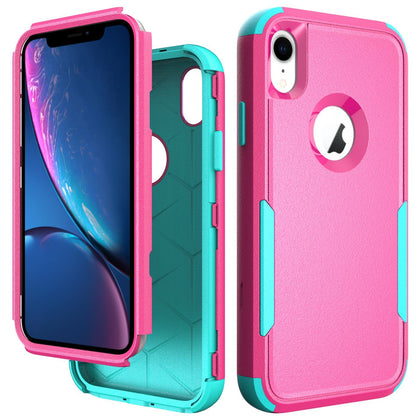 Commander Combo Case for iPhone XR - Pink and Teal