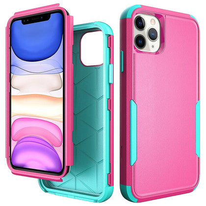 Commander Combo Case for iPhone 11 Pro Max - Pink and Teal