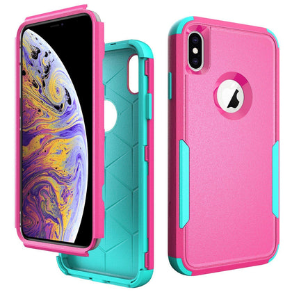 Commander Combo Case for iPhone Xs Max - Pink and Teal