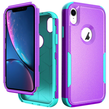 Commander Combo Case for iPhone XR - Purple and Teal