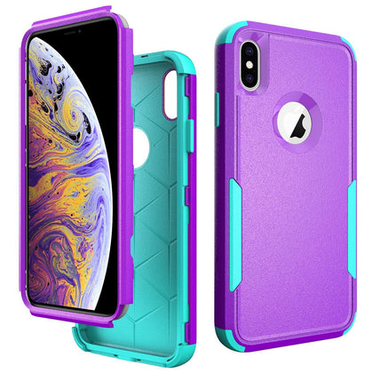 Commander Combo Case for iPhone Xs Max - Purple and Teal