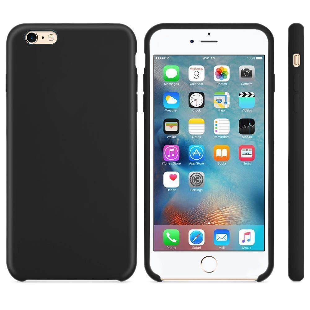Premium Silicone Case For iPhone 6P, 6SP - Black