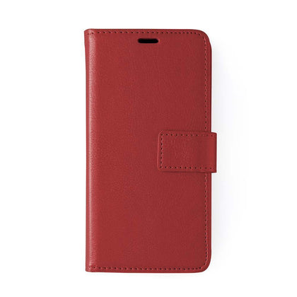 Classic Magnet Wallet Case For Samsung Galaxy Note 10 Plus - Red
