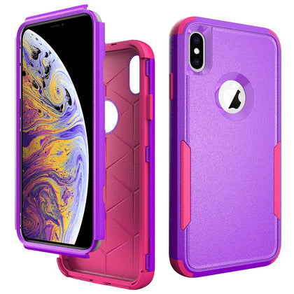 Commander Combo Case for iPhone Xs Max - Purple and Pink