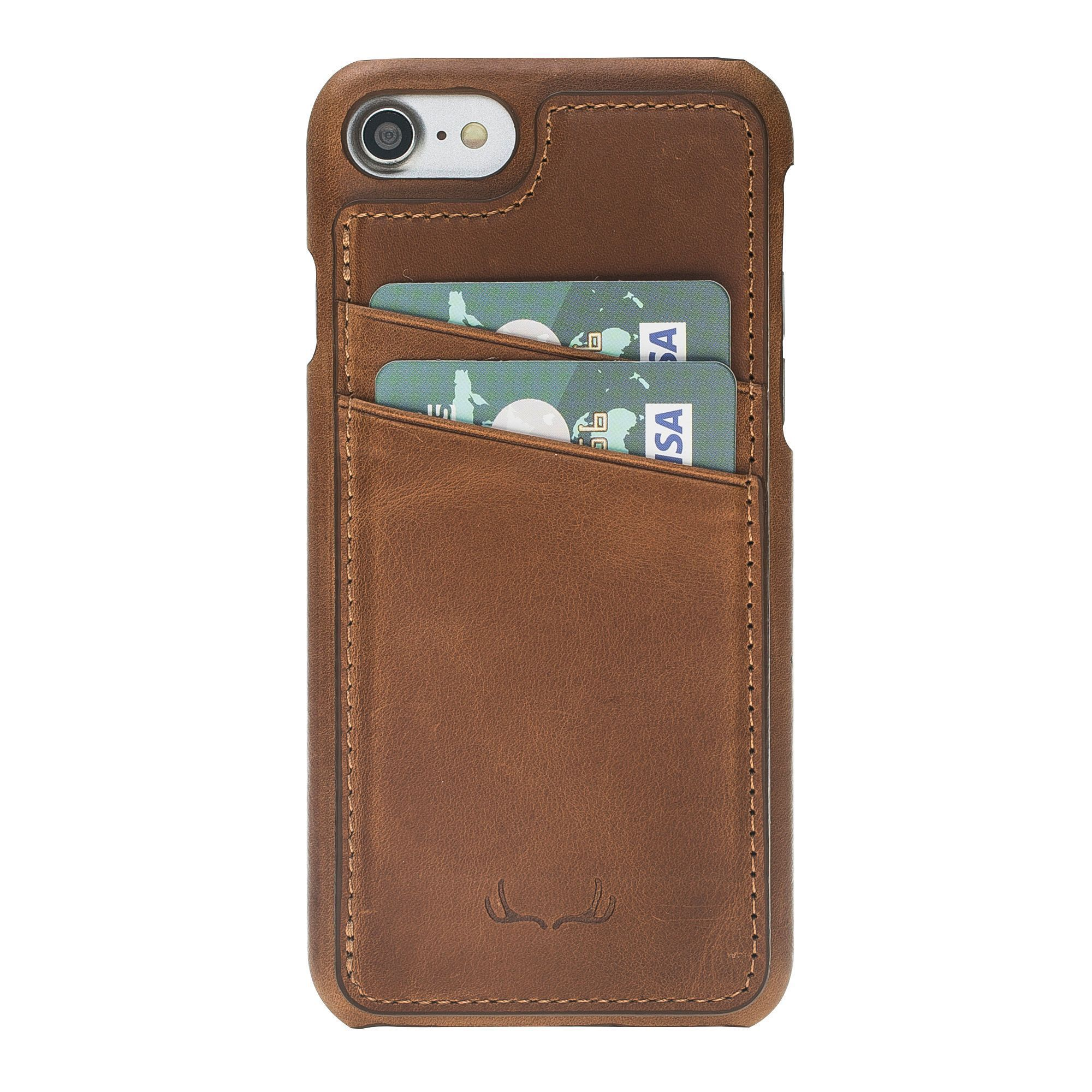 BNT Ultimate Stand Credit Card Leather Cases - Crazy - iPhone 7/8 - Brown