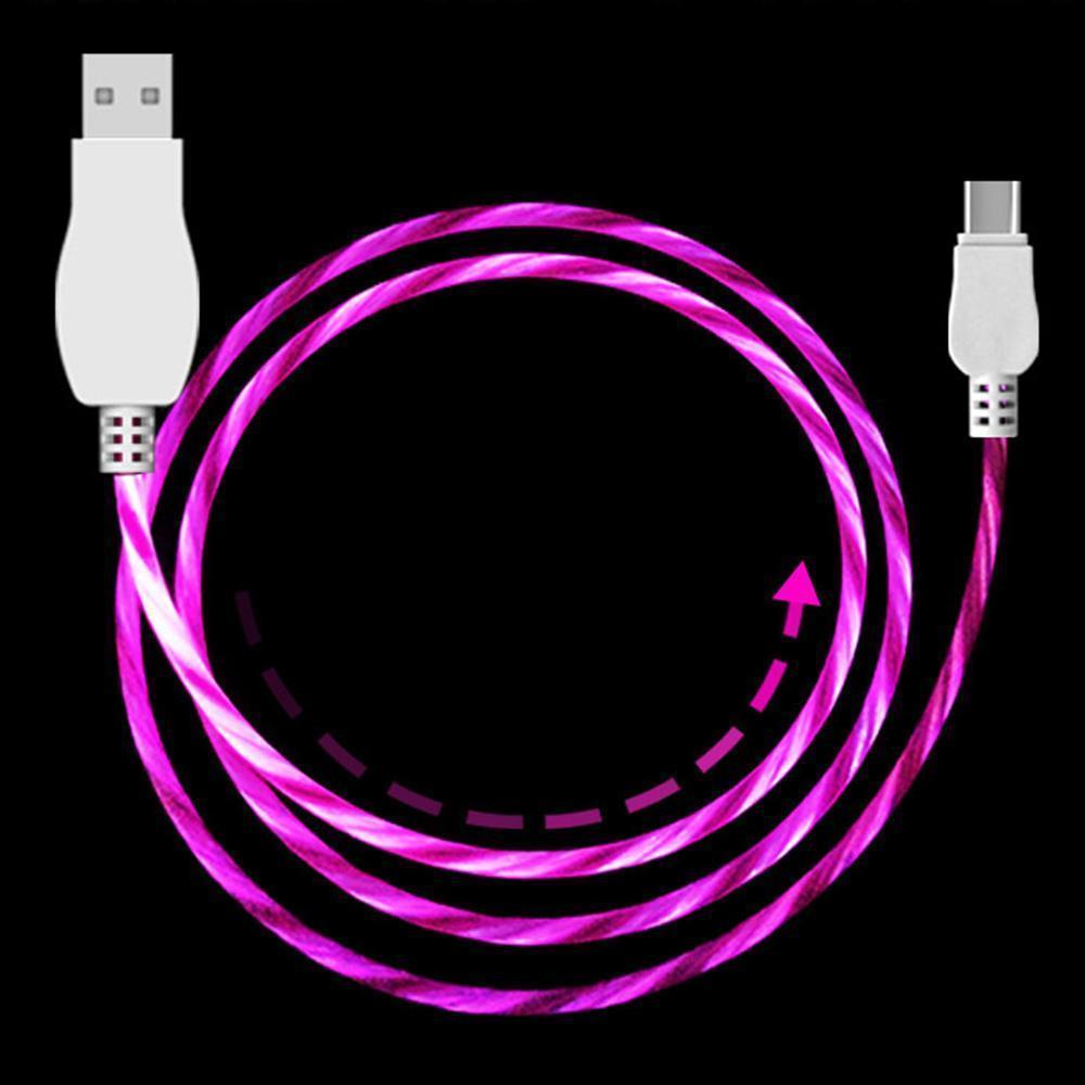 Light Up Cable for Type-C - Purple