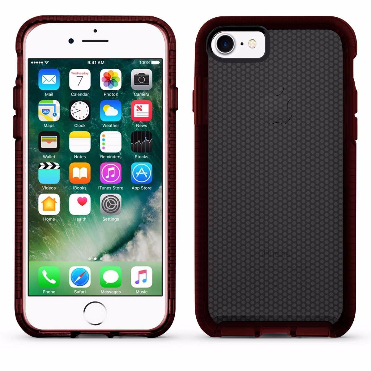 Elastic Dot Case for iPhone 7 /8 - Black & Red Edge