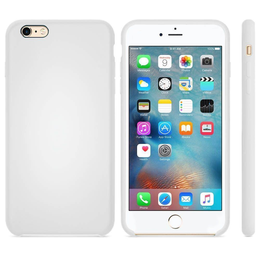 Premium Silicone Case For iPhone 6, 6S - White