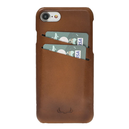 BNT Ultimate Jacket Credit Card Leather Cases - Rustic - iPhone 7/8 - Brown