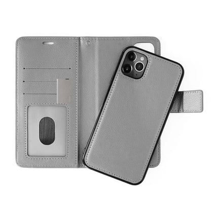 Classic Leather Wallet Case for iPhone XR - Grey