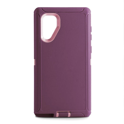 DualPro Protector Case for Samsung N10 Plus - BURDUNGY & LIGHT PINK