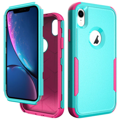 Commander Combo Case for iPhone XR - Teal and Pink