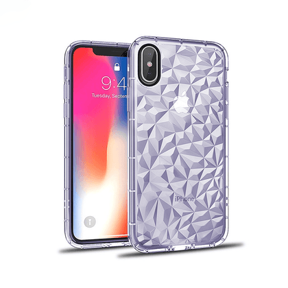 3D Crystal Case for iPhone XR - Purple