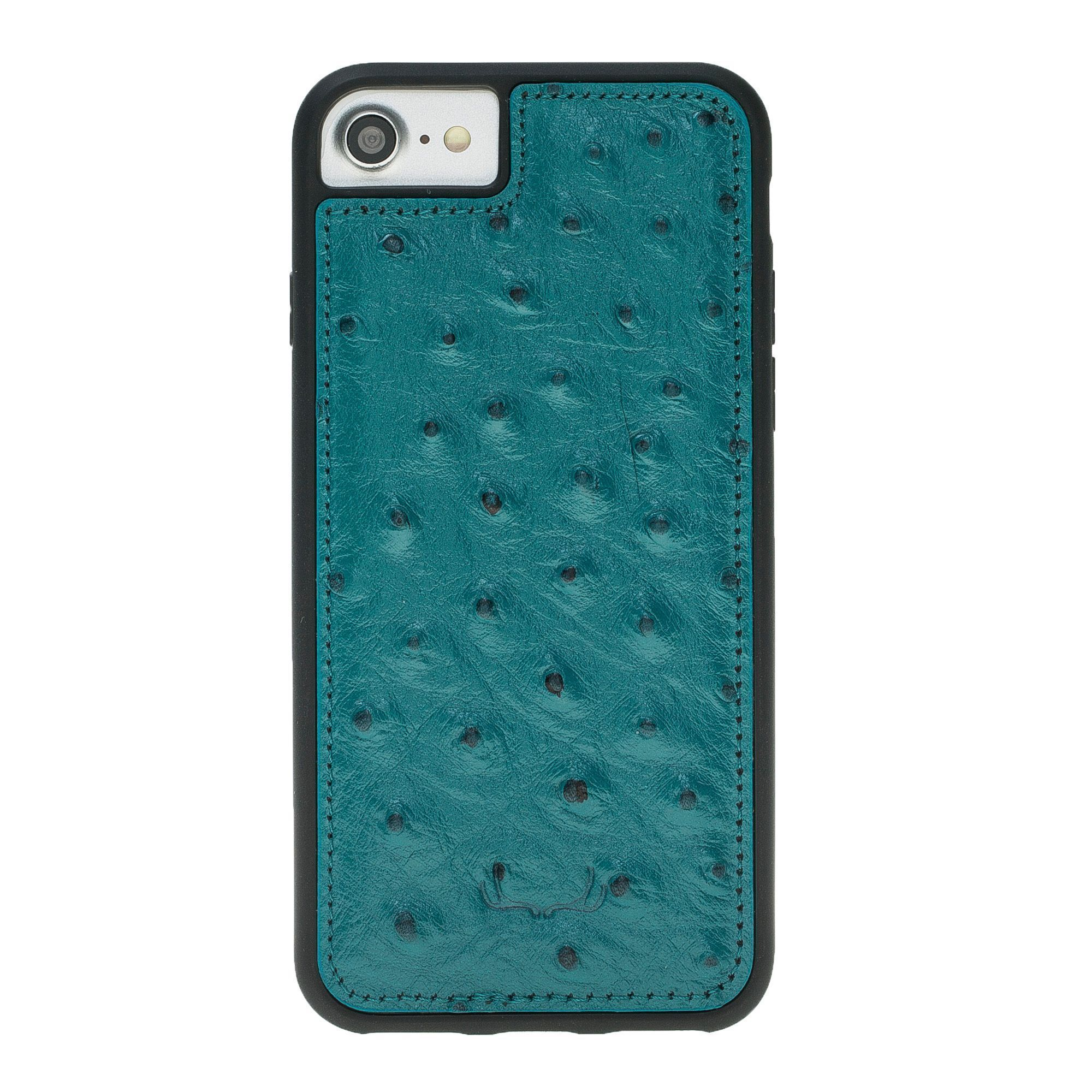 BNT Flex Cover Leather Cases - Ostrich - iPhone 7/8 - Turquoise