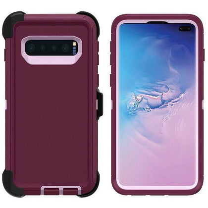 DualPro Protector Case for S8 - Burgundy & Light Pink